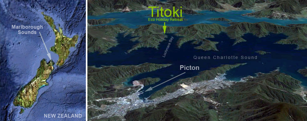 Titoki Location Map